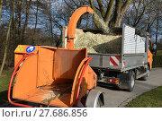 Купить «chopper forestry forsthäcksler holzschredder schredder», фото № 27686856, снято 27 мая 2019 г. (c) PantherMedia / Фотобанк Лори