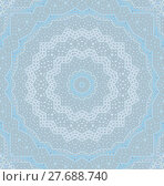 Купить «Abstract geometric seamless background. Delicate concentric circle ornament in light gray shades with elements in pastel blue, gauzy and dreamy.», фото № 27688740, снято 20 июля 2018 г. (c) PantherMedia / Фотобанк Лори