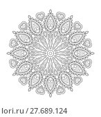 Купить «Mandala illustration for adult coloring», иллюстрация № 27689124 (c) PantherMedia / Фотобанк Лори