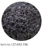 Купить «ball from black porous pumice stone isolated», фото № 27693196, снято 23 мая 2018 г. (c) PantherMedia / Фотобанк Лори