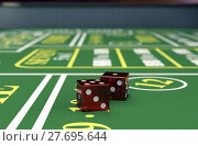 Купить «gambling, craps game», фото № 27695644, снято 23 июля 2019 г. (c) PantherMedia / Фотобанк Лори