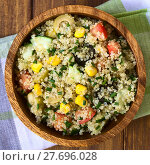 Купить «Colorful Quinoa and Vegetable Salad», фото № 27696028, снято 21 сентября 2019 г. (c) PantherMedia / Фотобанк Лори