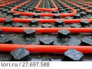 Купить «The floor heating system», фото № 27697588, снято 23 января 2018 г. (c) Андрей Шалари / Фотобанк Лори
