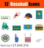 Купить «Baseball icon set», иллюстрация № 27699316 (c) PantherMedia / Фотобанк Лори