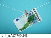 Купить «Euro currency growth illustrated over blue», фото № 27700248, снято 26 сентября 2018 г. (c) PantherMedia / Фотобанк Лори