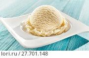 Купить «Serving of delicious frozen creamy ice cream», фото № 27701148, снято 26 марта 2019 г. (c) PantherMedia / Фотобанк Лори