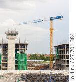 Купить «Building site and Construction cranes», фото № 27701384, снято 23 ноября 2019 г. (c) PantherMedia / Фотобанк Лори
