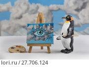 Купить «Penguin artist», фото № 27706124, снято 16 июля 2019 г. (c) PantherMedia / Фотобанк Лори