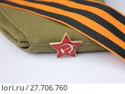 Купить «Red Army man's garrison cap», фото № 27706760, снято 23 мая 2019 г. (c) PantherMedia / Фотобанк Лори