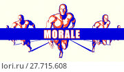 Купить «Morale as a Competition Concept Illustration Art», фото № 27715608, снято 14 декабря 2018 г. (c) PantherMedia / Фотобанк Лори