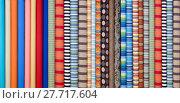 Купить «Fabric in rolls many colours and designs», фото № 27717604, снято 25 апреля 2018 г. (c) PantherMedia / Фотобанк Лори