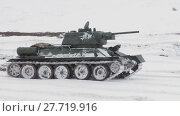 Купить «Russian Tank T34», видеоролик № 27719916, снято 14 мая 2012 г. (c) Алексей Кузнецов / Фотобанк Лори