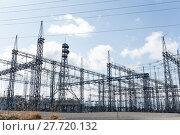 Купить «High voltage electric power substation», фото № 27720132, снято 21 мая 2018 г. (c) PantherMedia / Фотобанк Лори