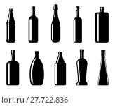 Купить «Collection of bottles of different shapes», иллюстрация № 27722836 (c) Сергей Лаврентьев / Фотобанк Лори