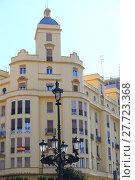 Купить «facades of houses in valencia - spain», фото № 27723368, снято 23 февраля 2019 г. (c) PantherMedia / Фотобанк Лори