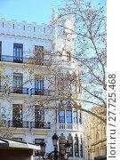 Купить «facades of houses in valencia - spain», фото № 27725468, снято 23 февраля 2019 г. (c) PantherMedia / Фотобанк Лори
