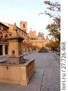 Купить «spain castle houses chateau storefronts», фото № 27726468, снято 23 февраля 2019 г. (c) PantherMedia / Фотобанк Лори