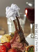 Купить «lamb cuff cutlet geflügelmanschette lammkarree», фото № 27730948, снято 20 июля 2018 г. (c) PantherMedia / Фотобанк Лори