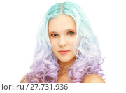 Купить «teen girl with trendy colorful gradient dyed hair», фото № 27731936, снято 2 октября 2011 г. (c) Syda Productions / Фотобанк Лори