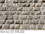 Фрагмент каменной стены (2017 год). Редакционное фото, фотограф Юрий Морозов / Фотобанк Лори