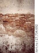 Купить «cracked brick wall texture background. Vintage effect.», фото № 27734692, снято 17 августа 2018 г. (c) PantherMedia / Фотобанк Лори