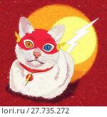 Купить «Cats superheroes. Flash», иллюстрация № 27735272 (c) PantherMedia / Фотобанк Лори