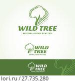 Купить «Wild Tree Logotype», иллюстрация № 27735280 (c) PantherMedia / Фотобанк Лори