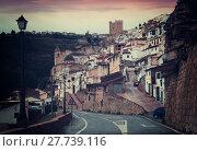 Twilight view of Alcala del Jucar (2016 год). Стоковое фото, фотограф Яков Филимонов / Фотобанк Лори