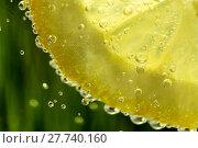 Купить «lemon in water background with water drops», фото № 27740160, снято 25 июня 2019 г. (c) PantherMedia / Фотобанк Лори