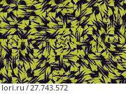 Купить «Digital art style modern interlace abstract geometric seamless pattern design in mixed yellow and black colors», фото № 27743572, снято 19 марта 2019 г. (c) PantherMedia / Фотобанк Лори