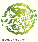 Купить «hunter hunt roe hunts stag», иллюстрация № 27750776 (c) PantherMedia / Фотобанк Лори