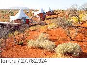 Купить «Luxury Hotel Longitude at entrance of the Uluru Kata Tjuta National Park (Ayers Rock & olgas).», фото № 27762924, снято 25 мая 2019 г. (c) age Fotostock / Фотобанк Лори