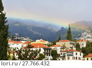 Купить «Rainbow in mist over Funchal, Madeira, Portugal», фото № 27766432, снято 19 марта 2019 г. (c) PantherMedia / Фотобанк Лори