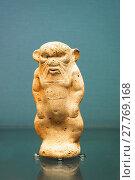 Купить «Dwarf god Pataikos. Egyptian-style gods and worshippers. 750-500 BC. This terracotta figure is Phoenician or Cypriot interpretation of Egyptian religious images. British Museum - London, England.», фото № 27769168, снято 16 октября 2017 г. (c) age Fotostock / Фотобанк Лори