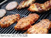 Купить «grilling», фото № 27779528, снято 10 июля 2020 г. (c) PantherMedia / Фотобанк Лори