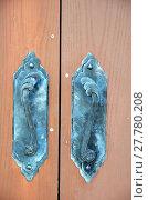 Купить «Lock and door handles», фото № 27780208, снято 22 апреля 2019 г. (c) PantherMedia / Фотобанк Лори