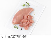 Купить «raw turkey breast fillet», фото № 27781664, снято 19 июня 2019 г. (c) PantherMedia / Фотобанк Лори