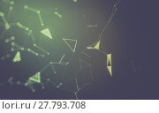 Купить «Abstract polygonal space low poly dark background with connecting dots and lines. Connection structure. 3d rendering», фото № 27793708, снято 19 июня 2019 г. (c) PantherMedia / Фотобанк Лори