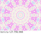 Купить «Abstract geometric seamless background. Concentric circle ornament in beige, pink, violet, magenta and light blue, delicate and dreamy.», фото № 27796988, снято 21 октября 2018 г. (c) PantherMedia / Фотобанк Лори