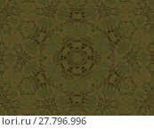 Купить «Abstract geometric background in quiet colors. Seamless concentric circle ornament in brown shades and olive green.», фото № 27796996, снято 21 октября 2018 г. (c) PantherMedia / Фотобанк Лори