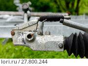 Купить «close-up trailer hook for boats», фото № 27800244, снято 15 февраля 2019 г. (c) PantherMedia / Фотобанк Лори