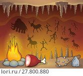Купить «Prehistoric cave thematic image 1», иллюстрация № 27800880 (c) PantherMedia / Фотобанк Лори