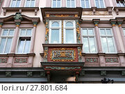 Купить «house decorated with oriel - historic old town mulhouse», фото № 27801684, снято 23 мая 2019 г. (c) PantherMedia / Фотобанк Лори