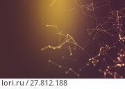 Купить «Abstract polygonal space low poly dark background, 3d rendering», фото № 27812188, снято 18 сентября 2019 г. (c) PantherMedia / Фотобанк Лори