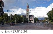 Купить «Вид на здание Национального музея Финляндии сентябрьским днем. Хельсинки», видеоролик № 27813344, снято 16 сентября 2017 г. (c) Виктор Карасев / Фотобанк Лори