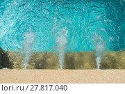 Купить «Water running system in swimming pool.», фото № 27817040, снято 17 августа 2018 г. (c) PantherMedia / Фотобанк Лори