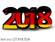 Купить «German german 2018 big bold font 3d render illustration», фото № 27818524, снято 18 ноября 2018 г. (c) PantherMedia / Фотобанк Лори