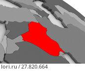 Купить «Iraq highlighted in red on model of globe. 3D illustration», фото № 27820664, снято 14 декабря 2018 г. (c) PantherMedia / Фотобанк Лори