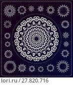 Купить «set of mandala illustration», иллюстрация № 27820716 (c) PantherMedia / Фотобанк Лори