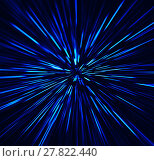 Купить «Square vibrant blue explosion radial blur abstraction background», фото № 27822440, снято 19 января 2019 г. (c) PantherMedia / Фотобанк Лори